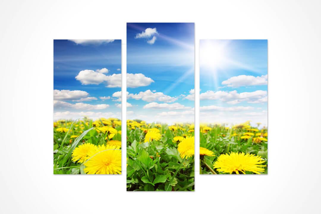 3 Parçalı Oval - Çiçekler 12