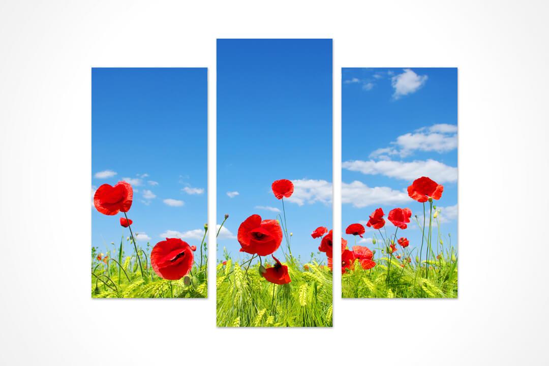 3 Parça Oval - Çiçekler 17