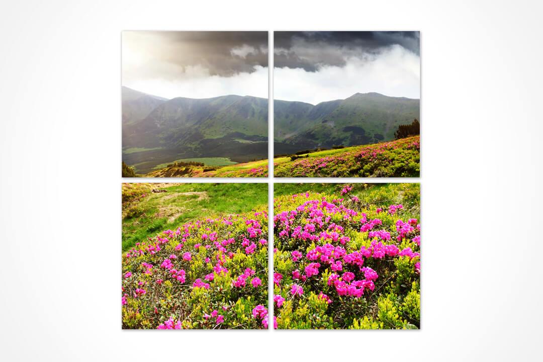 4 Parça Kare - Çiçekler 13